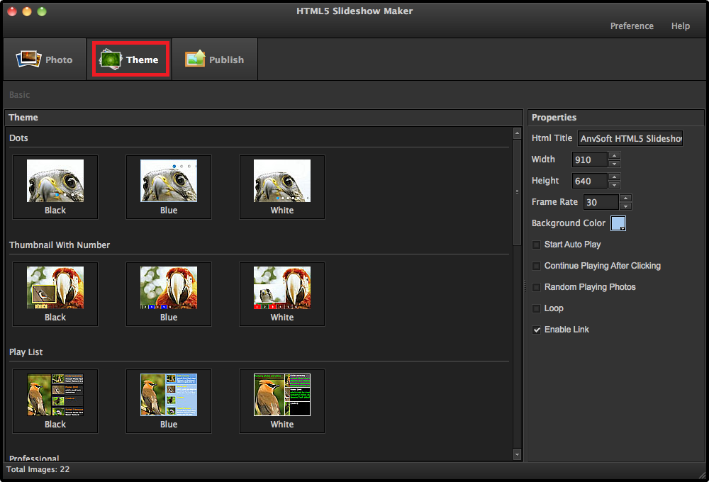 HTML5 Slideshow Maker - Create HTML5 photo slidehsow with