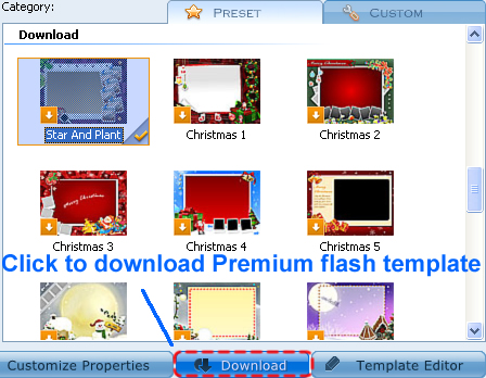 how to customize premium flash template of photo flash maker