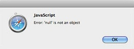 The first error messsage you may get when previewing an HTML5 slideshow in safari.