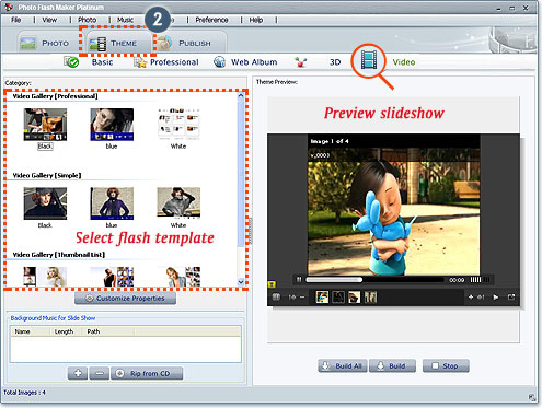 Screenshot of Photo Flash Maker Platinum 5.35