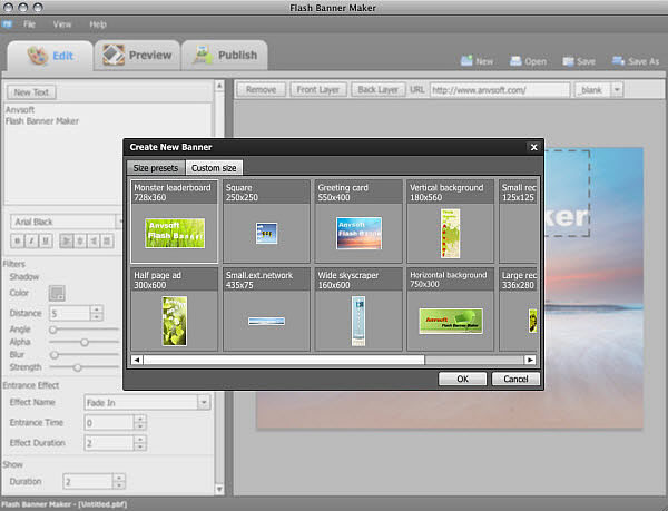 Flash Banner Maker for Mac 1.00 full