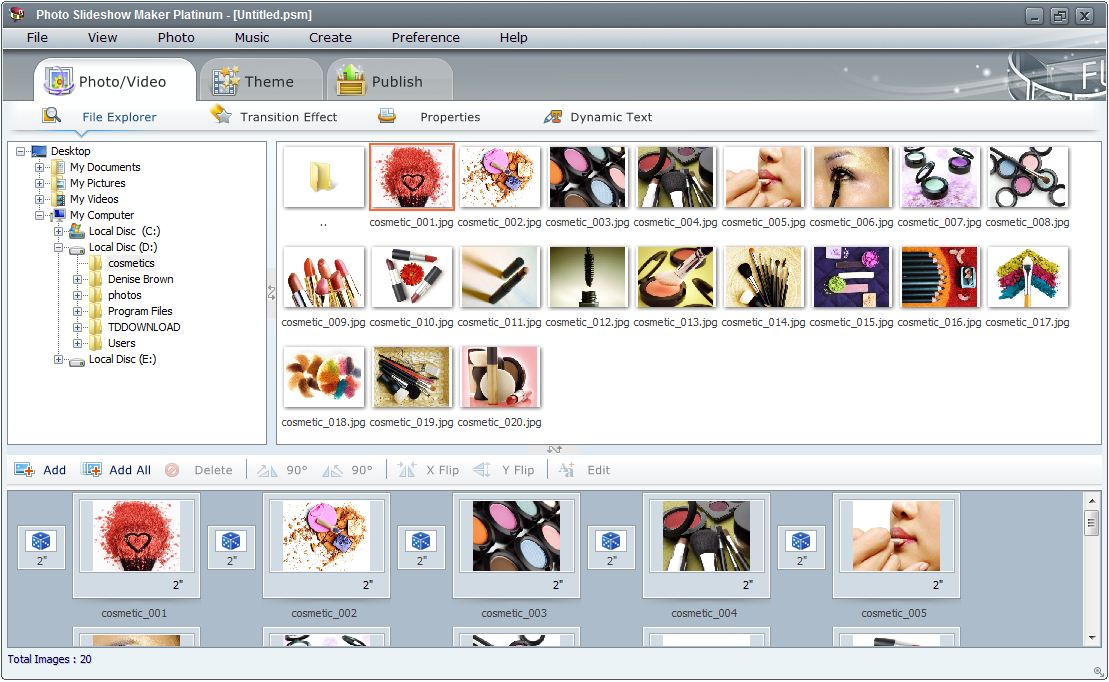 Features of Photo Flash Maker Platinum- Creating Flash Photo Gallery