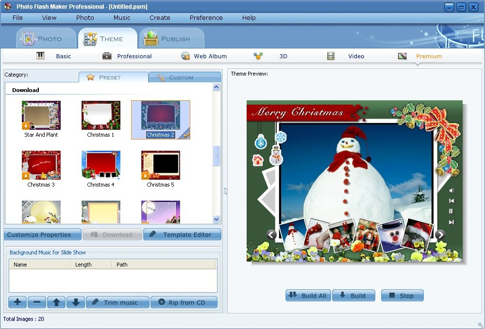 Click to view Photo Flash Maker Professional 5.41 screenshot