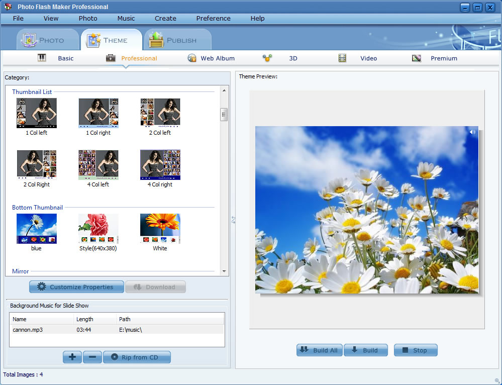 برنامجPhoto Flash Maker لوضع ميوزك
