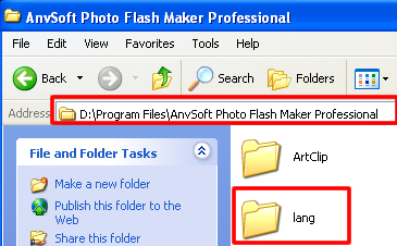 Go to the program files folder of Photo Flash Maker